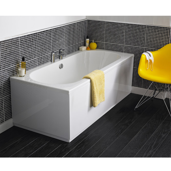 Otley Round Double Ended Acrylic Bath profile large image view 2