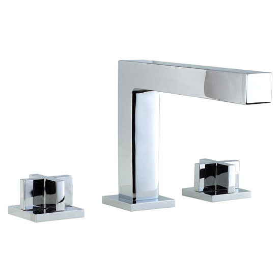 Phoenix OV Series 3 Hole Deck Mounted Bath Filler - Chrome profile large image view 1
