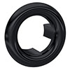 Hudson Reed Matt Black Overflow Cover - OVFL02 profile small image view 1