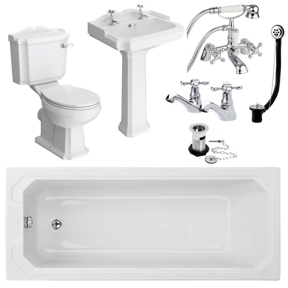 Cove Complete Bathroom Suite: Oxford 1700 Complete Bathroom Package At Victorian Plumbing UK