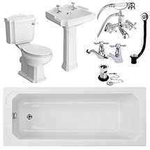 Oxford Complete Traditional Bathroom Package (1700 x 700mm) Medium Image