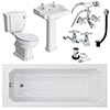 Oxford Complete Traditional Bathroom Package (1700 x 700mm) profile small image view 1