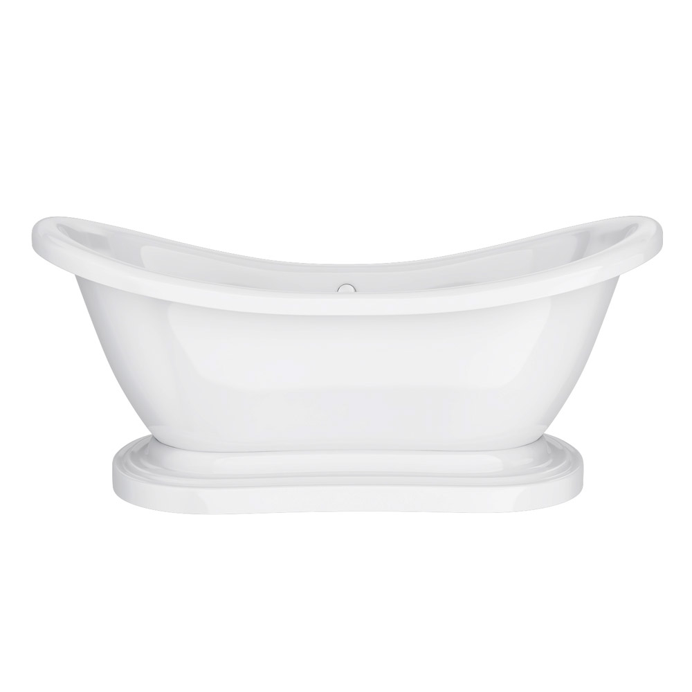 Oakland 1750 Double Ended Roll Top Slipper Bath with Skirt profile large image view 2