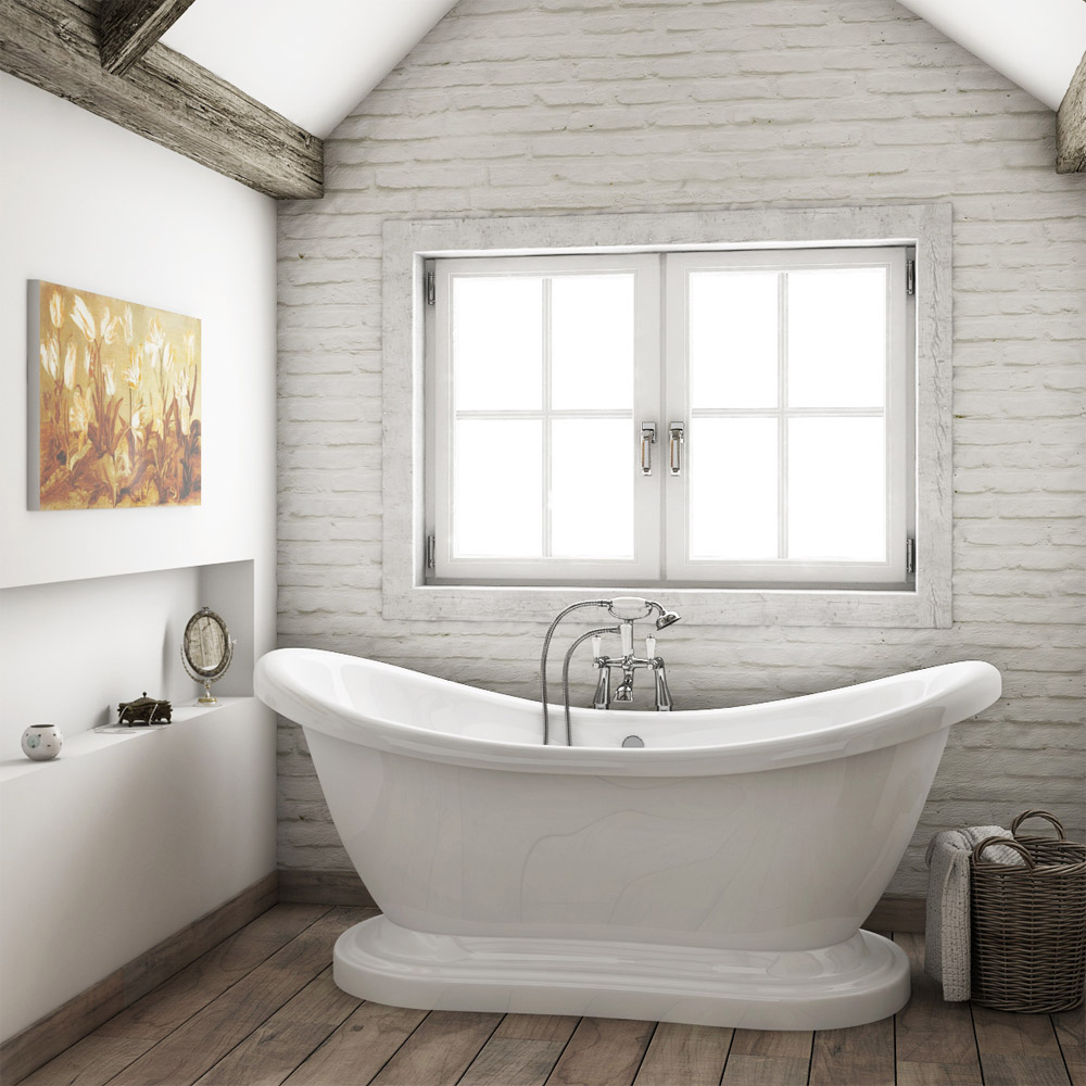 Oakland 1750 Double Ended Roll Top Slipper Bath