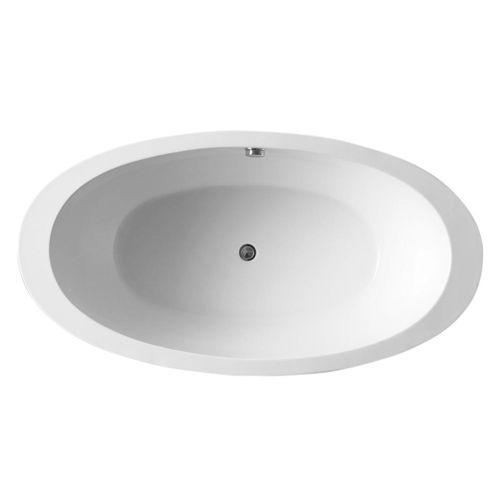 Oceania Black Modern Oval Double Ended Bath (1700 x 900mm) profile large image view 2