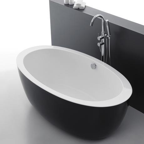 Oceania Black Modern Oval Double Ended Bath (1700 x 900mm)