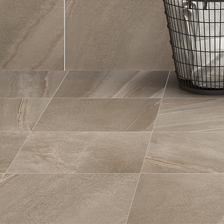 Oceania Stone Grey Floor Tiles - 33 x 33cm