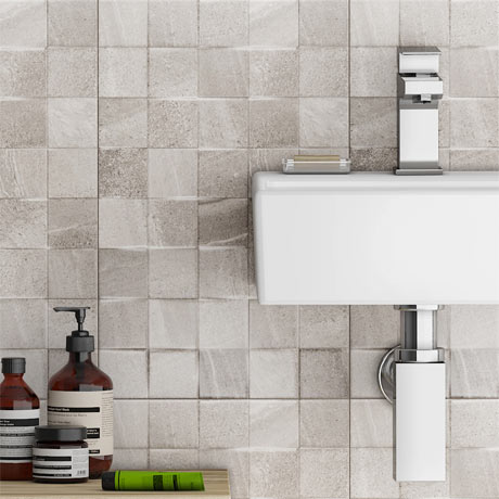 Oceania Stone Grey Mosaic Wall Tiles