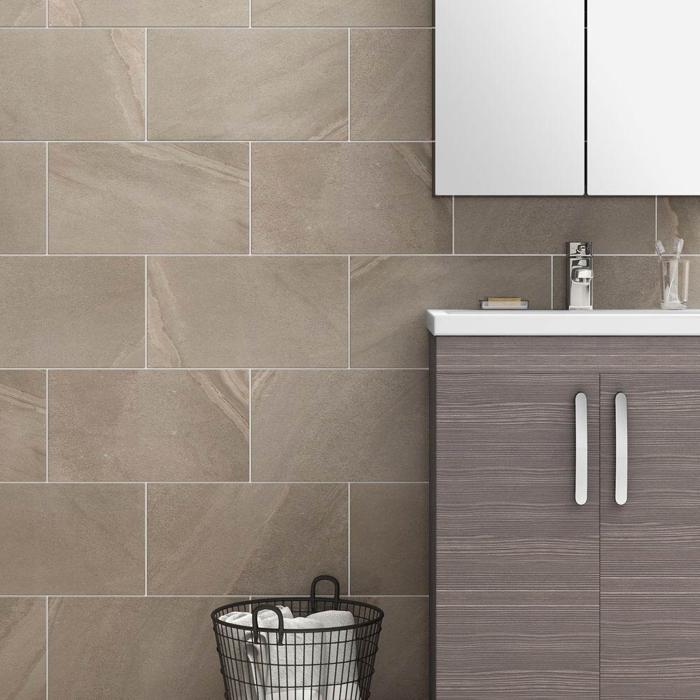Oceania Stone Grey Wall Tiles Large Image