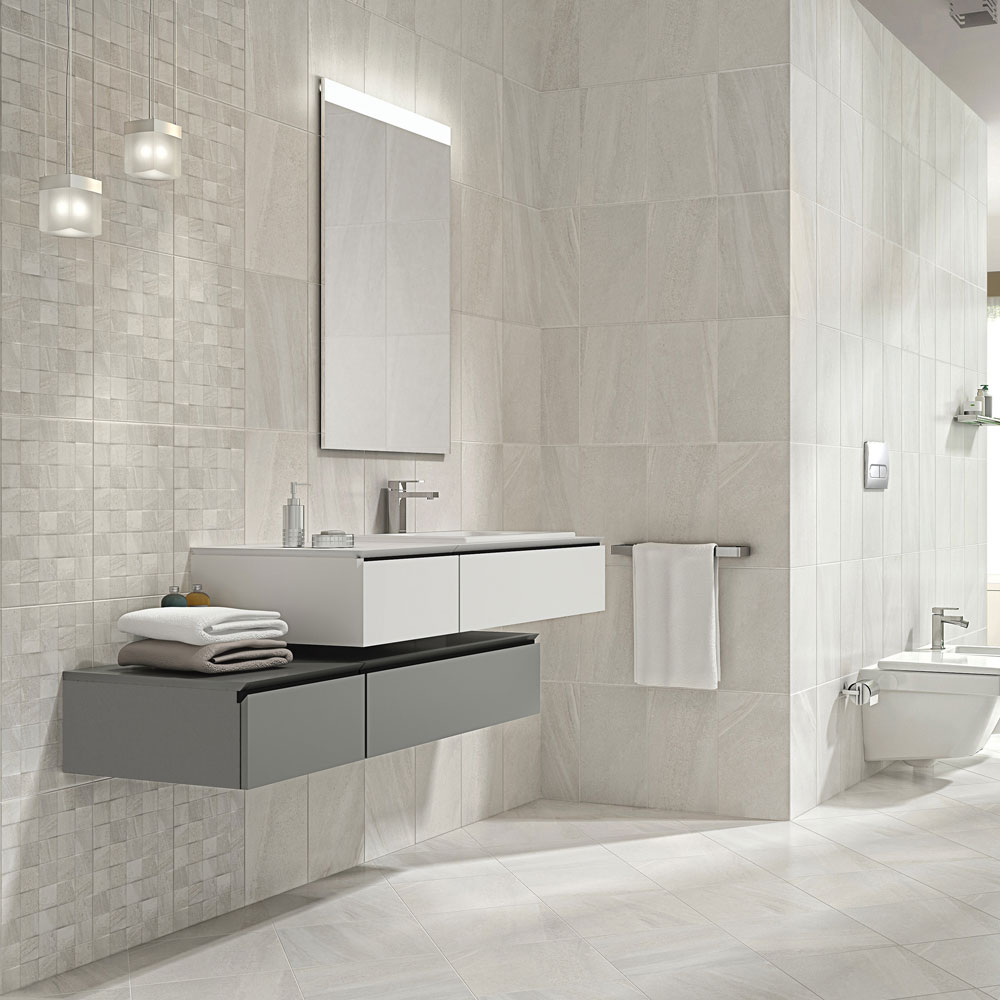 Oceania Stone White Mosaic Wall Tiles Profile Large Image
