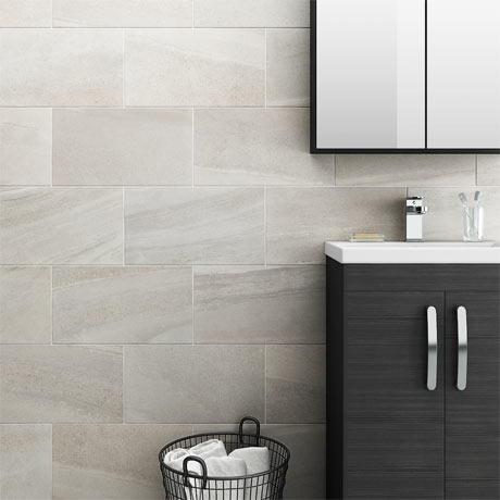 Oceania Stone White Wall Tiles | 5 Bathroom Tile Ideas For Small Bathrooms