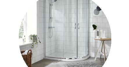 Offset Shower Enclosure