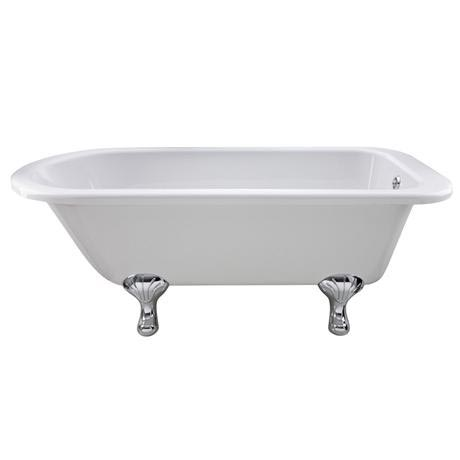 Old London - Barnsbury 1690 x 750 Single Ended Freestanding Bath with Chrome Leg Set