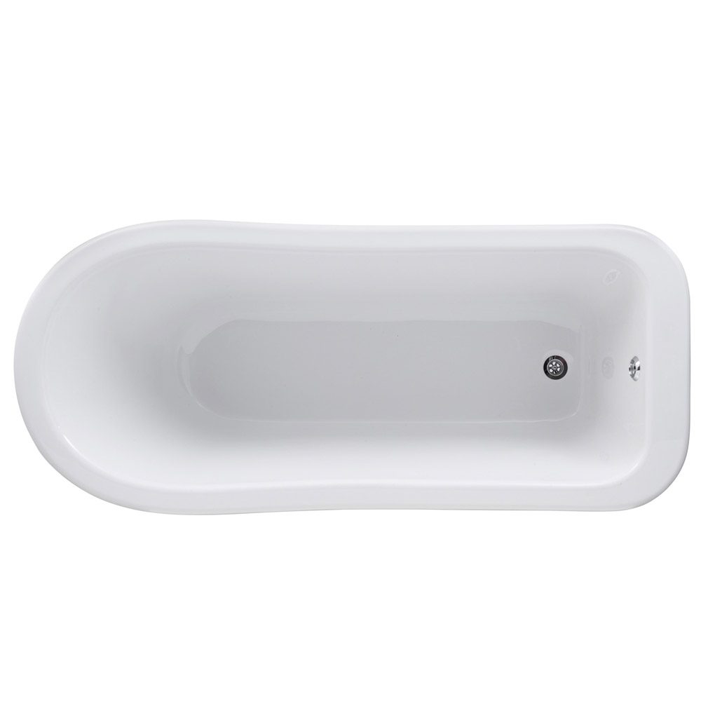 Old London - Brockley 1490 x 730 Slipper Freestanding Bath with Chrome Leg Set Profile Large Image