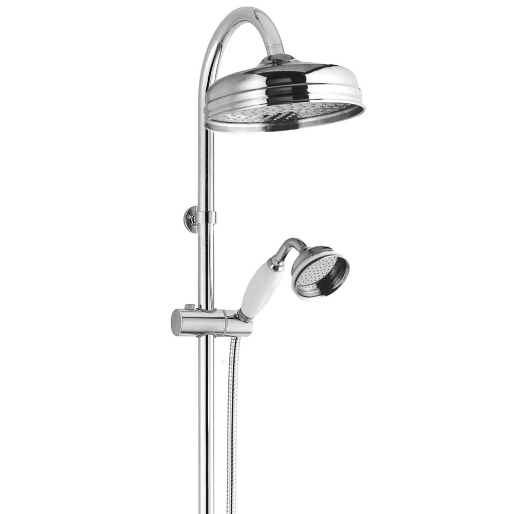 Old London - Chrome Traditional Riser Kit with Concealed Outlet Elbow - LDS008 profile large image view 2