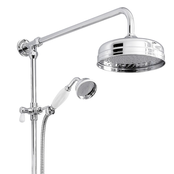 Old London - Chrome Traditional Triple Exposed Valve With Spout - LDNV15 Profile Large Image