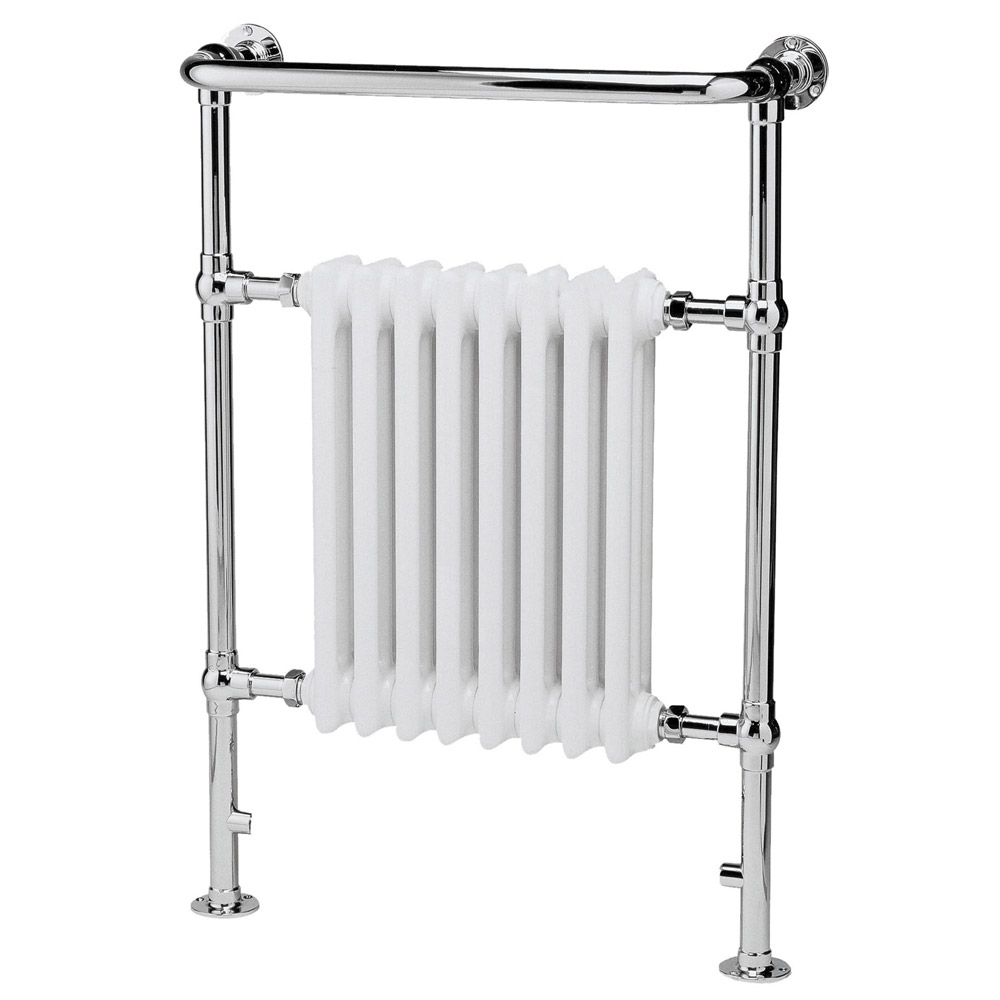 Old London - Chrome & White Finchley Radiator - 965 x 673mm - LDR001 profile large image view 1