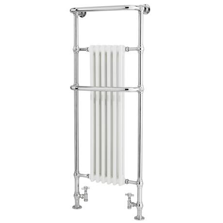 Old London - Chrome & White Tilbury Radiator - 1500 x 575mm - LDR008