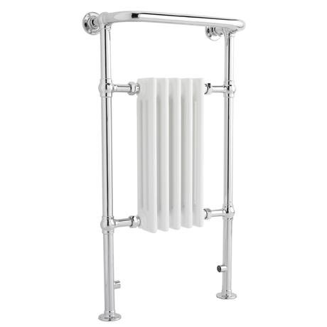 Old London - Chrome & White Tilbury Radiator - 965 x 540mm - LDR002