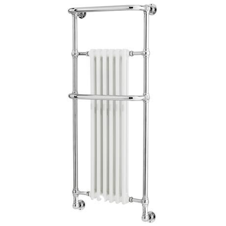 Old London - Chrome & White Wall Mounted Tilbury Radiator - 1365 x 575mm - LDR010