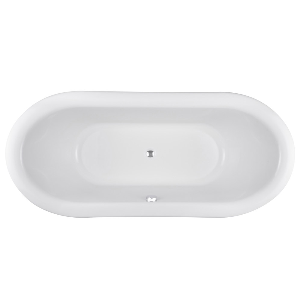 Old London - Greenwich Double Ended Slipper Freestanding Bath with Skirt - LDB002 profile large image view 2