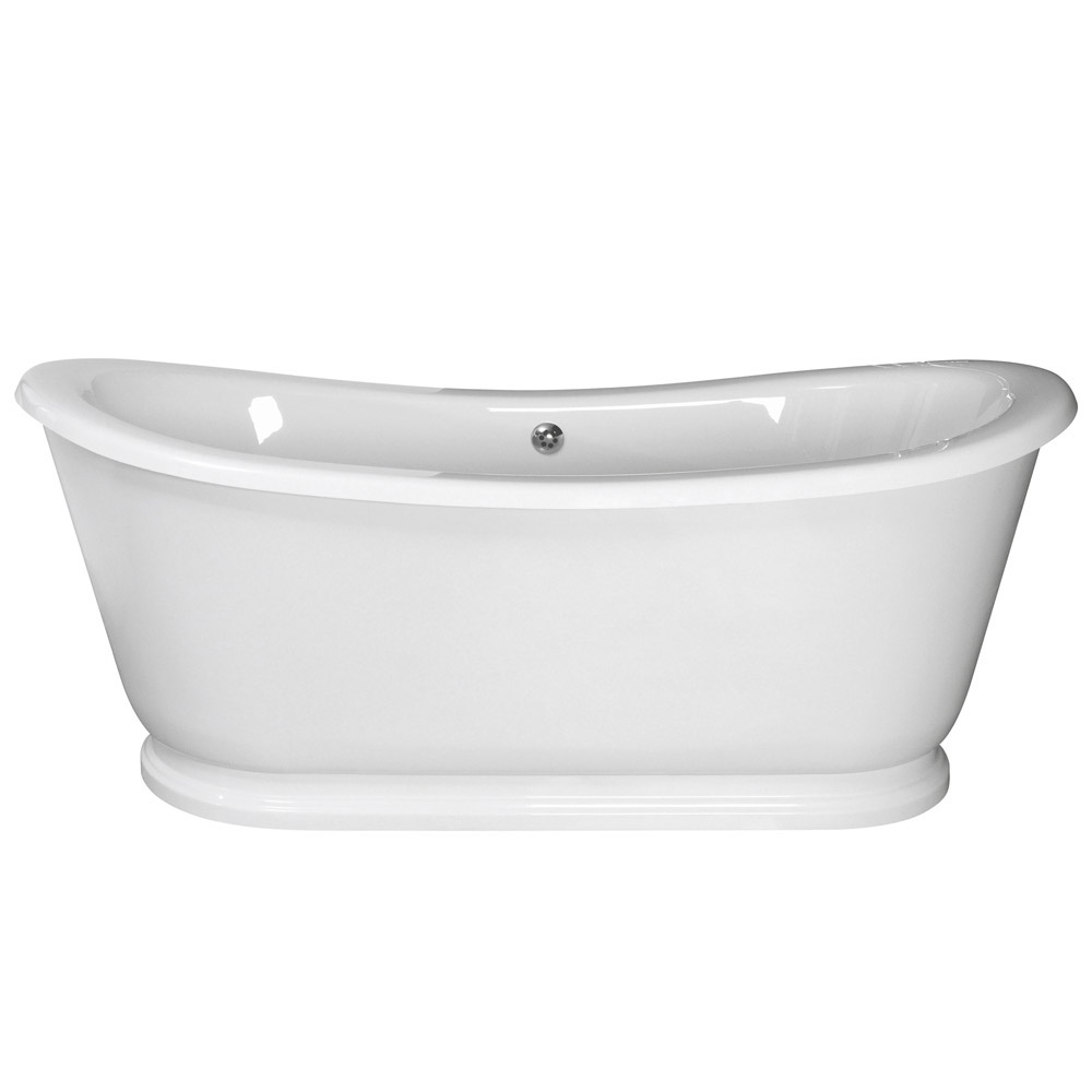 Old London - Greenwich Double Ended Slipper Freestanding Bath with Skirt - LDB002 profile large image view 3