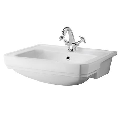 Old London - Richmond 560 x 450mm 1TH Semi Recessed Basin - LDC808A