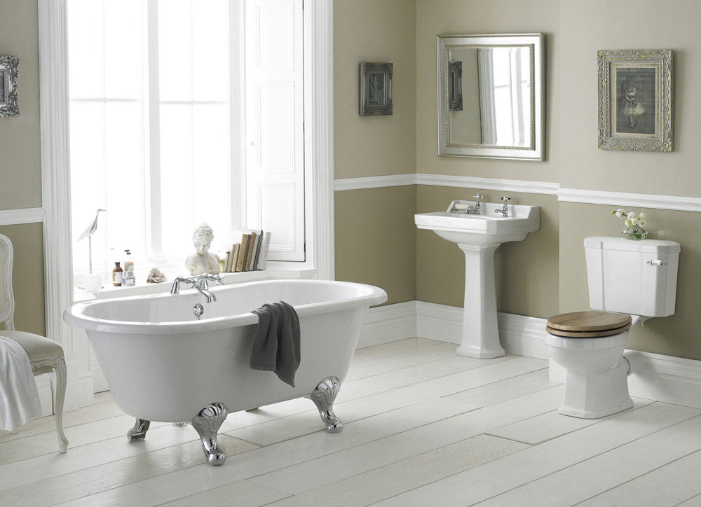 Old london richmond close coupled bathroom suite with for Bathroom and toilet designs