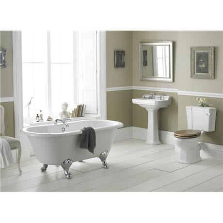 Old London Richmond Close Coupled Bathroom Suite with Double Ended Bath