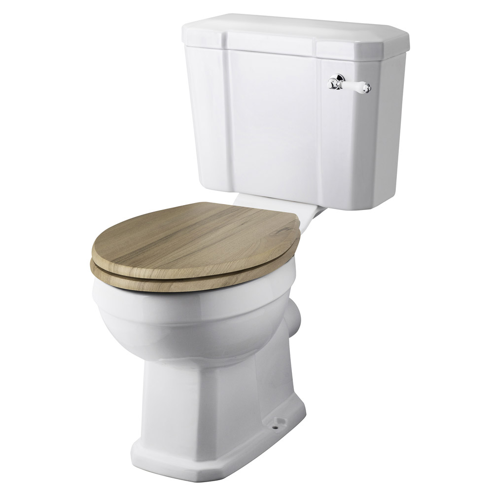 Old London Richmond Close Coupled Traditional Toilet inc Ceramic Lever Flush Large Image
