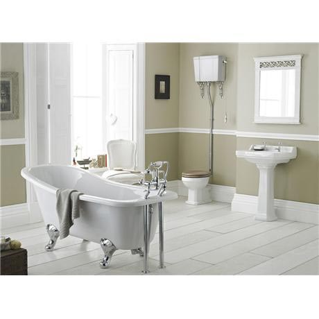 Old London - Richmond High Level Bathroom Suite with Slipper Bath