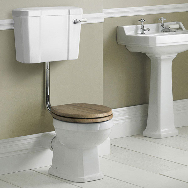 Old London Richmond Low Level Traditional Toilet Inc. Ceramic Lever Flush profile large image view 2