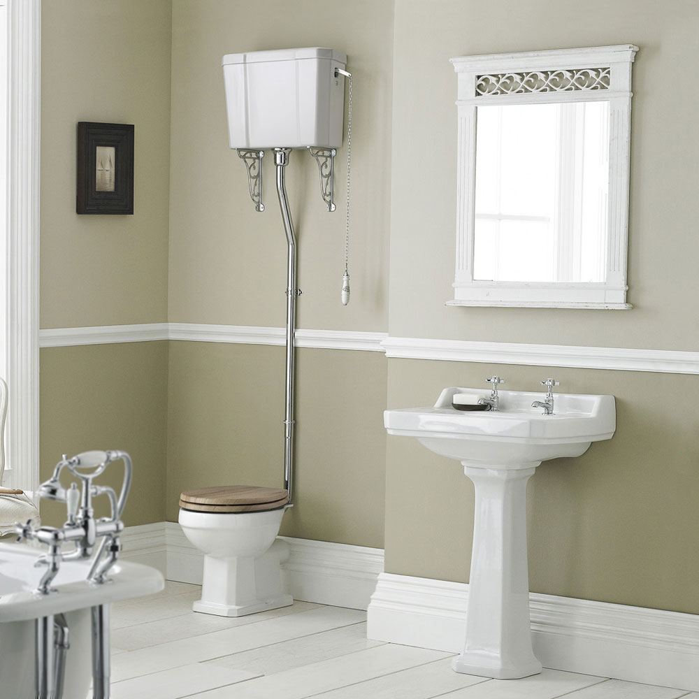 Old London Richmond High Level Traditional Bathroom Suite Large Image