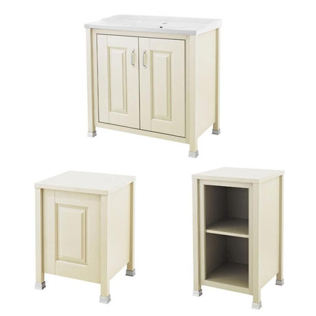 Old London Traditional 800mm Wide Cabinet Package - Ivory