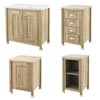 Old London Traditional 800mm Wide Cabinet Package - Natural Walnut profile small image view 1