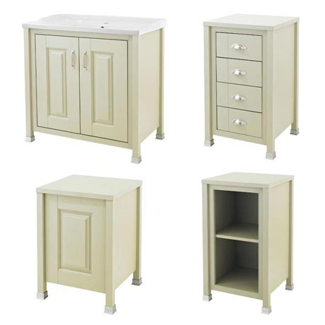 Old London Traditional 800mm Wide Cabinet Package - Pistachio