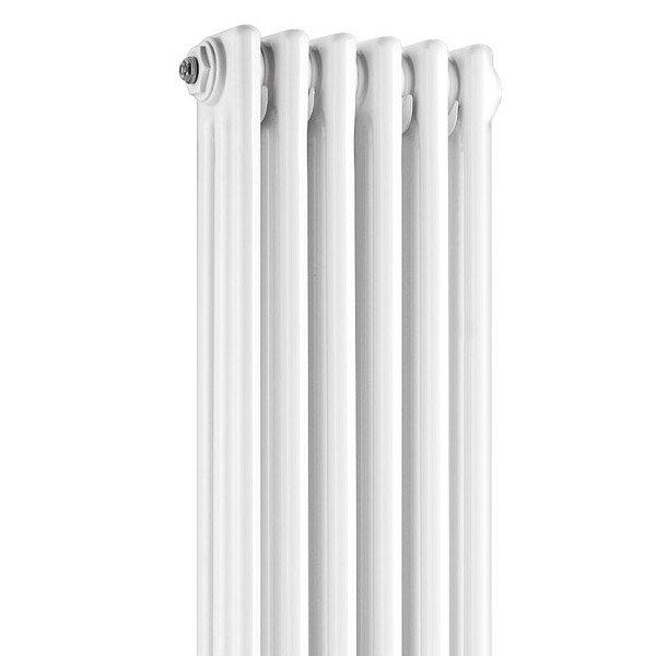 Old London - White Clarendon Radiator - 1800 x 291mm - LDR013 Profile Large Image