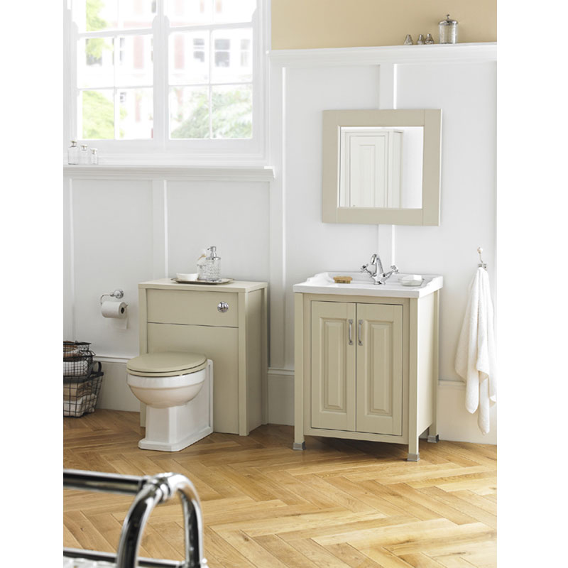 Old London - 600 Traditional 2-Door Basin & Cabinet - Pistachio - LDF203 profile large image view 3