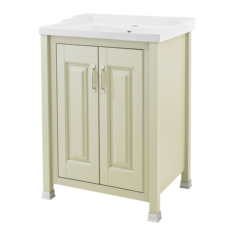 Old London - 600 Traditional 2-Door Basin & Cabinet - Pistachio - LDF203 Large Image
