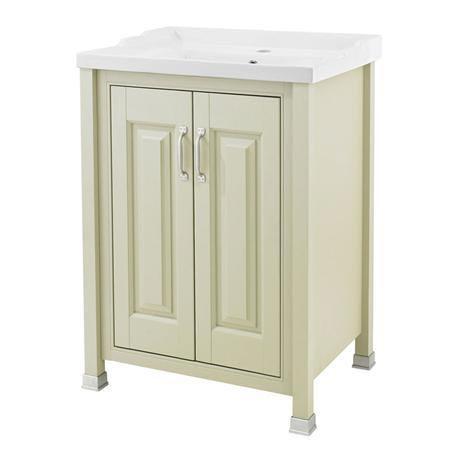 Old London - 600 Traditional 2-Door Basin & Cabinet - Pistachio - LDF203