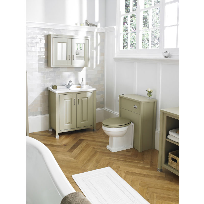 Old London - 800 Mirror Cabinet - Pistachio - NLV215 profile large image view 2