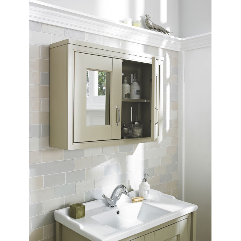 Old London - 800 Mirror Cabinet - Stone Grey - NLV415 Standard Large Image