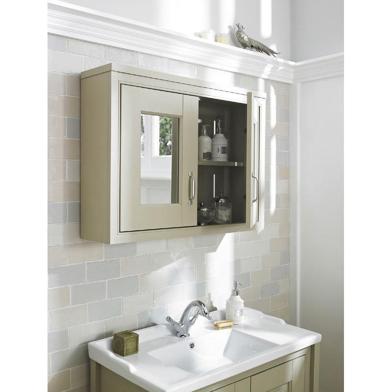 Old London - 800 Mirror Cabinet - Natural Walnut - NLV515 Standard Large Image