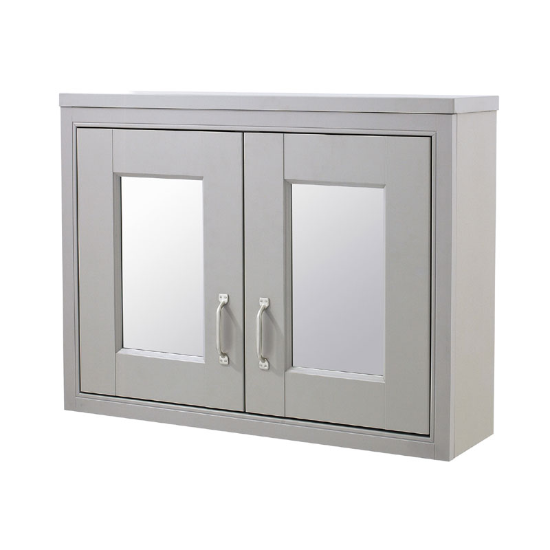 Old London Mirror Cabinet - Stone Grey