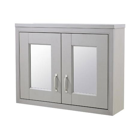 Old London - 800 Mirror Cabinet - Stone Grey - NLV415