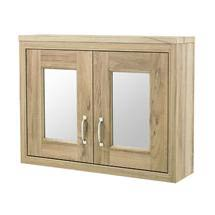 Old London - 800 Mirror Cabinet - Natural Walnut - NLV515 Medium Image