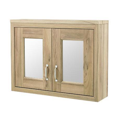 Old London - 800 Mirror Cabinet - Natural Walnut - NLV515