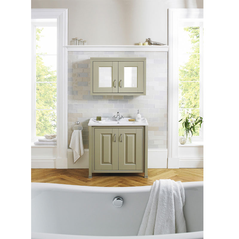 Old London - 800 Traditional 2-Door Basin & Cabinet - Ivory - LDF305 Profile Large Image
