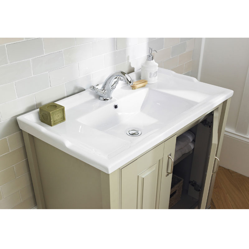 Old London - 800 Traditional 2-Door Basin & Cabinet - Stone Grey - LDF405 profile large image view 3
