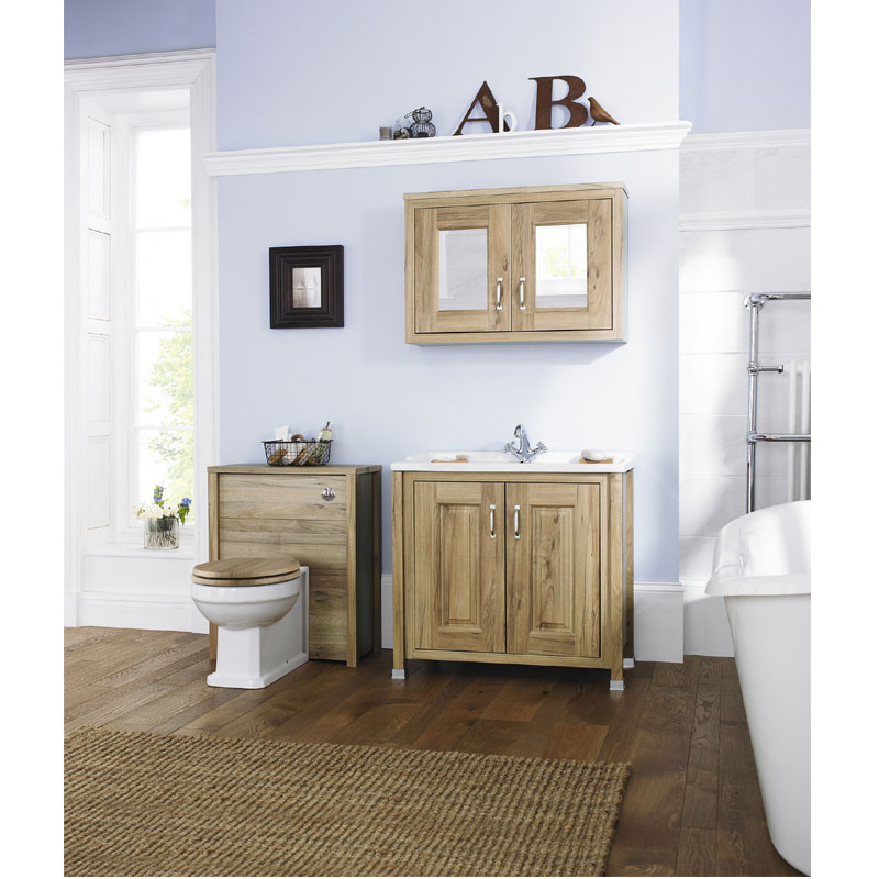 Old London - 800 Traditional 2-Door Basin & Cabinet - Natural Walnut - LDF505 profile large image view 4